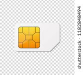 sim card. vector illustration. | Shutterstock .eps vector #1182848494