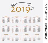 pocket calendar with the symbol ...   Shutterstock .eps vector #1182849577