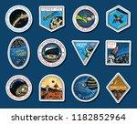 set of space logo. human... | Shutterstock .eps vector #1182852964