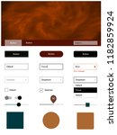 dark multicolor vector web ui...