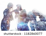 business people work together... | Shutterstock . vector #1182860077