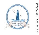 lighthouse logo. nautical icon... | Shutterstock .eps vector #1182860467