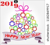 happy new year.holiday scene... | Shutterstock .eps vector #1182869917