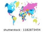 color world map vector | Shutterstock .eps vector #1182873454