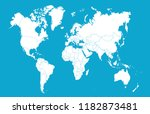 color world map vector | Shutterstock .eps vector #1182873481