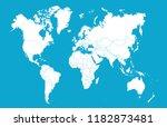 color world map vector | Shutterstock .eps vector #1182873481