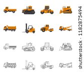 isolated object of build and...   Shutterstock .eps vector #1182875494