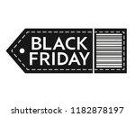 black friday sale. inscription... | Shutterstock .eps vector #1182878197