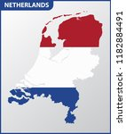 the detailed map of netherlands ... | Shutterstock . vector #1182884491