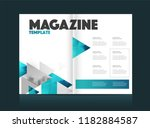 magazine template with two... | Shutterstock .eps vector #1182884587