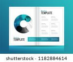 magazine template with two... | Shutterstock .eps vector #1182884614