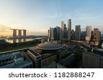 singapore business district... | Shutterstock . vector #1182888247