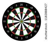classic board  target for darts ... | Shutterstock . vector #1182888427