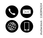 set of communication icons.... | Shutterstock .eps vector #1182896314