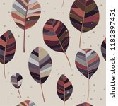 autumn leaves on a beige... | Shutterstock .eps vector #1182897451
