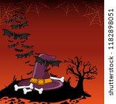 halloween scary cartoons | Shutterstock .eps vector #1182898051