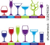 tumblers set for alcohol drinks ... | Shutterstock .eps vector #118290367