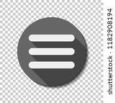 hamburger menu. web icon. flat...