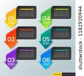 modern infographics design... | Shutterstock .eps vector #1182920944