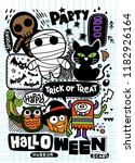 halloween party invitation card ... | Shutterstock .eps vector #1182926164