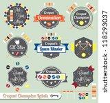 vector set  vintage croquet... | Shutterstock .eps vector #118293037