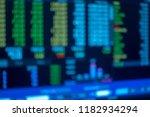 blur stock market graph... | Shutterstock . vector #1182934294