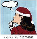 christmas illustration of a... | Shutterstock .eps vector #118294189