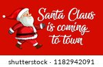 red santa claus template... | Shutterstock .eps vector #1182942091