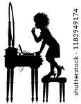 editable vector silhouette of a ... | Shutterstock .eps vector #1182949174