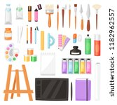artist tools vector watercolor... | Shutterstock .eps vector #1182962557