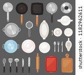 kitchen utensil vector... | Shutterstock .eps vector #1182962611