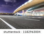 asphalt road and modern bridge... | Shutterstock . vector #1182963004