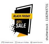 black friday sale badge.... | Shutterstock .eps vector #1182965731