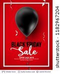 black friday sale backgrond.... | Shutterstock .eps vector #1182967204