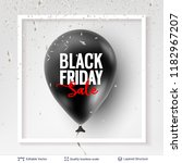 black friday sale backgrond.... | Shutterstock .eps vector #1182967207