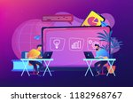 digital learning concept vector ... | Shutterstock .eps vector #1182968767