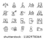 shopping icon set. included... | Shutterstock .eps vector #1182978364