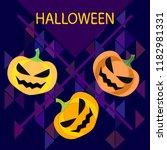 halloween pumpkin vector... | Shutterstock .eps vector #1182981331