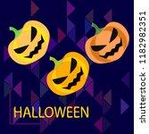 halloween pumpkin vector... | Shutterstock .eps vector #1182982351