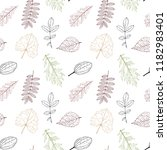 vector seamless pattern with... | Shutterstock .eps vector #1182983401