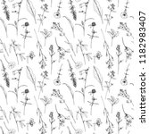vector seamless pattern with... | Shutterstock .eps vector #1182983407