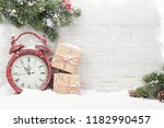 christmas gift boxes  alarm... | Shutterstock . vector #1182990457