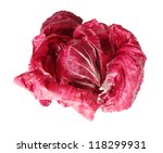 Fresh lettuce iceberg isolated on white background - stock photo