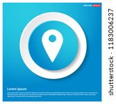 map pin icon abstract blue web...   Shutterstock .eps vector #1183006237