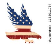 eagle silhouette on the usa... | Shutterstock .eps vector #1183011754