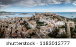 Ibiza  Spain  Citadel Aerial...