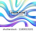 modern colorful flow poster.... | Shutterstock .eps vector #1183013101