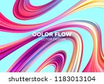 modern colorful flow poster.... | Shutterstock .eps vector #1183013104