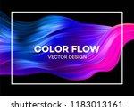 modern colorful flow poster.... | Shutterstock .eps vector #1183013161
