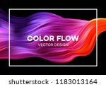 modern colorful flow poster.... | Shutterstock .eps vector #1183013164